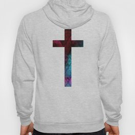 Christian Cross - Watercolor Geometric Pattern Hoody