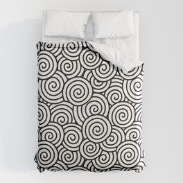 Chinese/Waves Duvet Cover