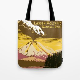 Vintage Lassen Volcanic National Park Tote Bag