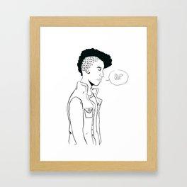 Frohawk Framed Art Print