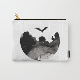 Primitive Halloween Moon Phase Carry-All Pouch