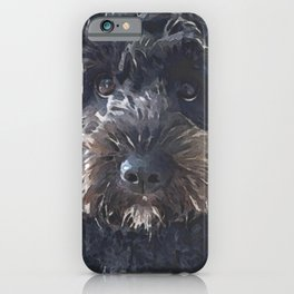 Black Cockapoo / Doodle Dog  iPhone Case