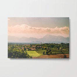 sunny spring day in the countryside Metal Print