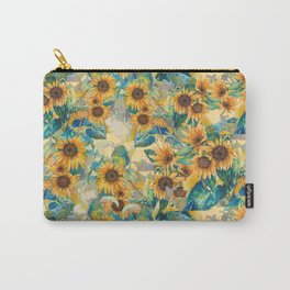 watercolor sun flowers garden Carry-All Pouch