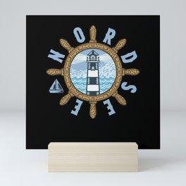Nordsee Norddeutschland Leuchtturm Ostfriesland Mini Art Print