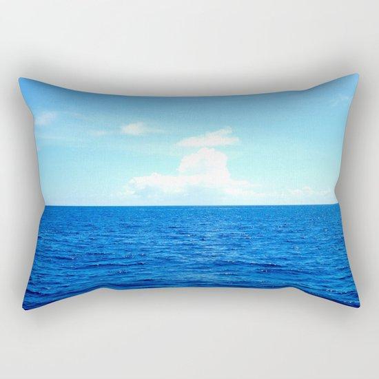 Serene Blue Water Rectangular Pillow
