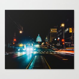 View of US Capitol Building from North Capitol Street Canvas Print