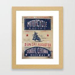 Grunthal Centennial Raceway Framed Art Print