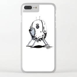 ADORE-A-BOT Clear iPhone Case