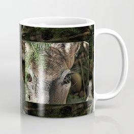 Whitetail Doe Camouflaged Deer Coffee Mug