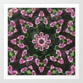 Rosas Moradas 2 Kaleidoscope 11 Art Print