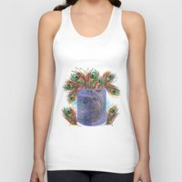 feathers Tank Tops featuring Feathers by famenxt