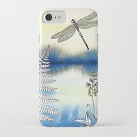 dragonfly iPhone & iPod Cases featuring Dragonfly by Alibabaform
