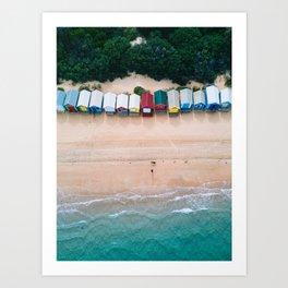 Brighton Bathing Boxes Art Print