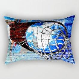 Red white and blue basketball art vs 123 Rectangular Pillow