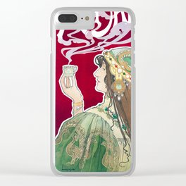 Rajah by Henri Privat-Livemont, 1899 Clear iPhone Case