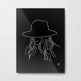 Jane (Women in a Hat V2) Metal Print