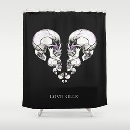 Skullheart - love kills s/w Shower Curtain