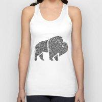 buffalo Tank Tops featuring Buffalo by Aleishajune