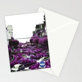 Lombard Street purple Stationery Cards