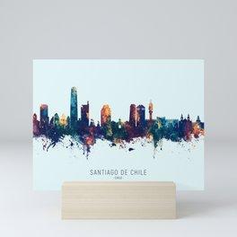 Santiago de Chile Skyline Mini Art Print