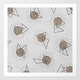 RANDOM ABSTRACT PATTERN WHITE Art Print
