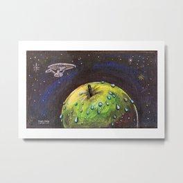 i-planet with Enterprise Metal Print