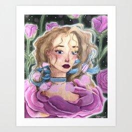 Rosy Rose Art Print
