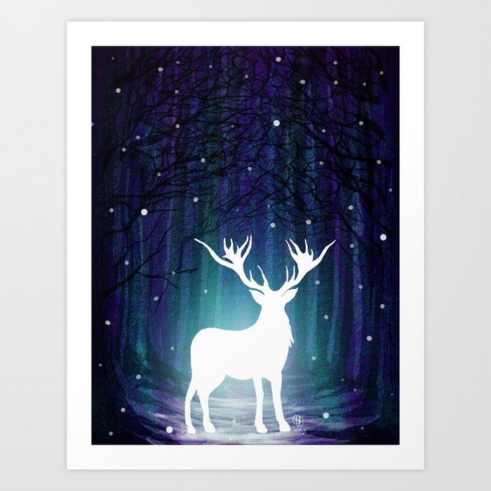 Magic Deer Art Print