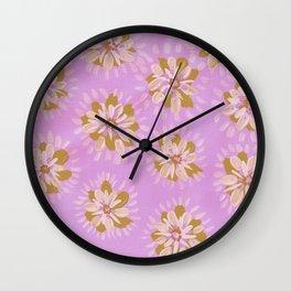Cinnamon Petal Rose Wall Clock