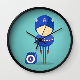 Captain A: My dreaming hero! Wall Clock