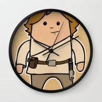 luke hemmings Wall Clocks featuring Luke by thejrowe