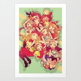 Poketrainers Art Print