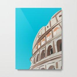 Rome, Italy Colosseum Metal Print