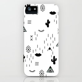 Indian summer aztec mayan symbol pattern iPhone Case