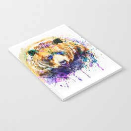 Colorful Grizzly Bear Notebook