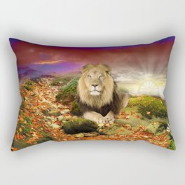 In Memory of Cecil The Lion Rectangular Pillow