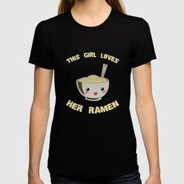This Girl Loves Her Ramen Japanese Noodles Lover T-shirt