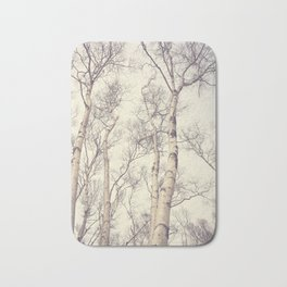 Winter Birch Trees Bath Mat