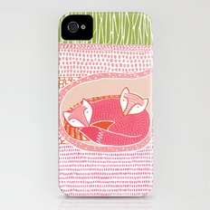 Sleepy Happy Foxes iPhone (4, 4s) Slim Case