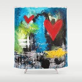 MIDNIGHT LOVE Shower Curtain