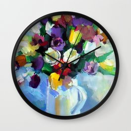 Still LIfe with Tulips Wall Clock