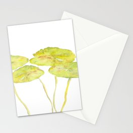 lotus leaves Stationery Cards