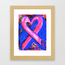 Super-Ribbon!! A Pink Ribbon for Breast Cancer Research by Jeffrey G. Rosenberg Framed Art Print