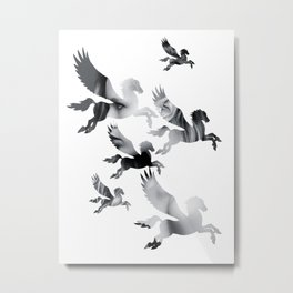 Facing Pegasus Metal Print