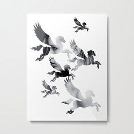 Facing Pegasus Metal Print