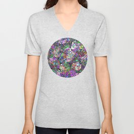 Colorful Lines Abstract Unisex V-Neck