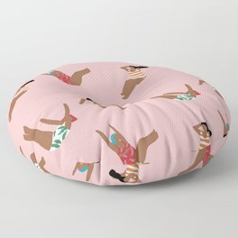 Make it rain girl make it rain Floor Pillow
