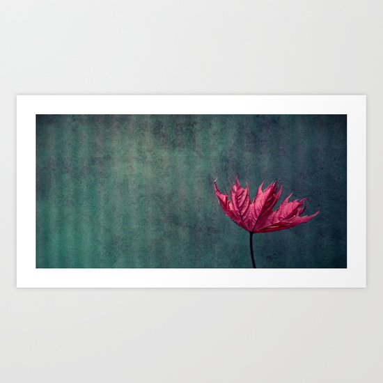 day with pink Art Print