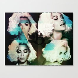 Bey Formation Blue Canvas Print